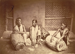 Group of musicians (drummers), Eastern Bengal.
